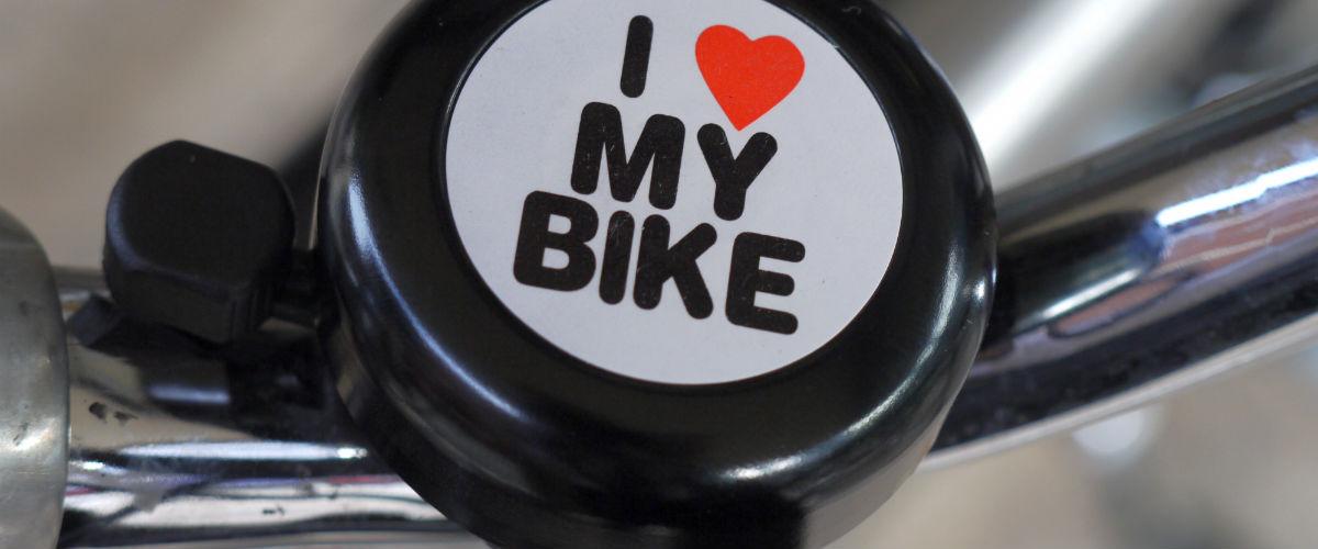 I love my bike logo on bicycle bell