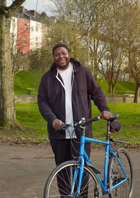 Kirris cycling in Victoria Park, Bristol