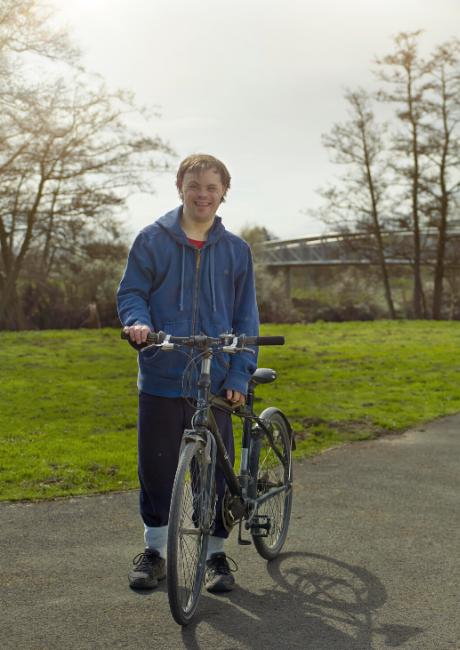 John cycling in Bathampton, Bath