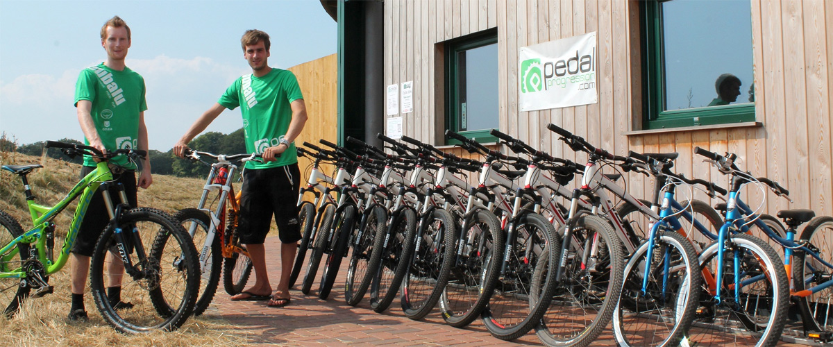 Bike hire shop Pedal Progression at Ashton Court