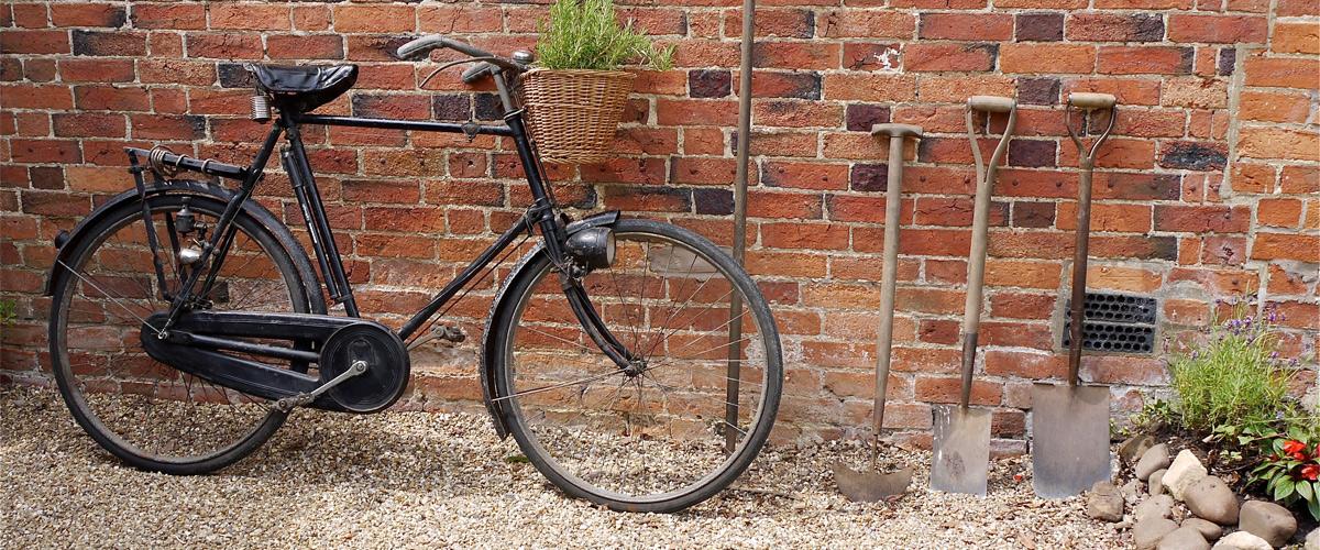 Secondhand old vintage bike