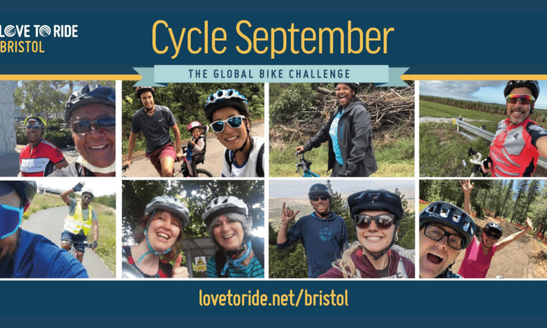 Photos of people taking part in CycleSeptember Bristol