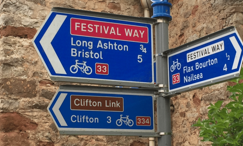 Photo of Festival Way cycle signage