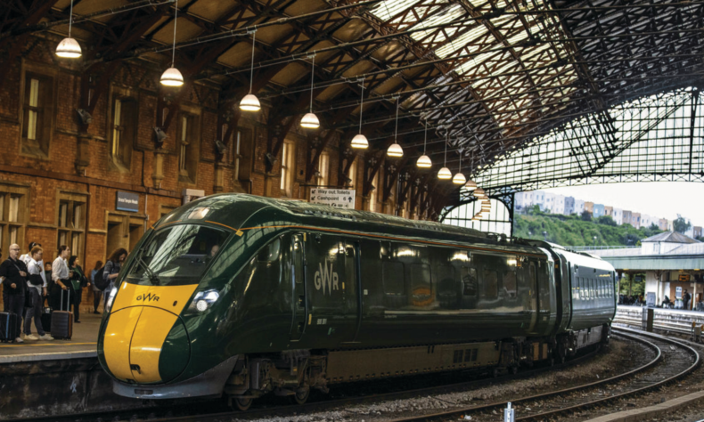 Image of train at Temple Meads train station