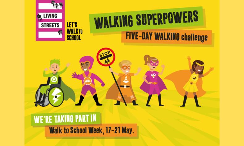 Walk To School Week - Living Streets 2021 artwork